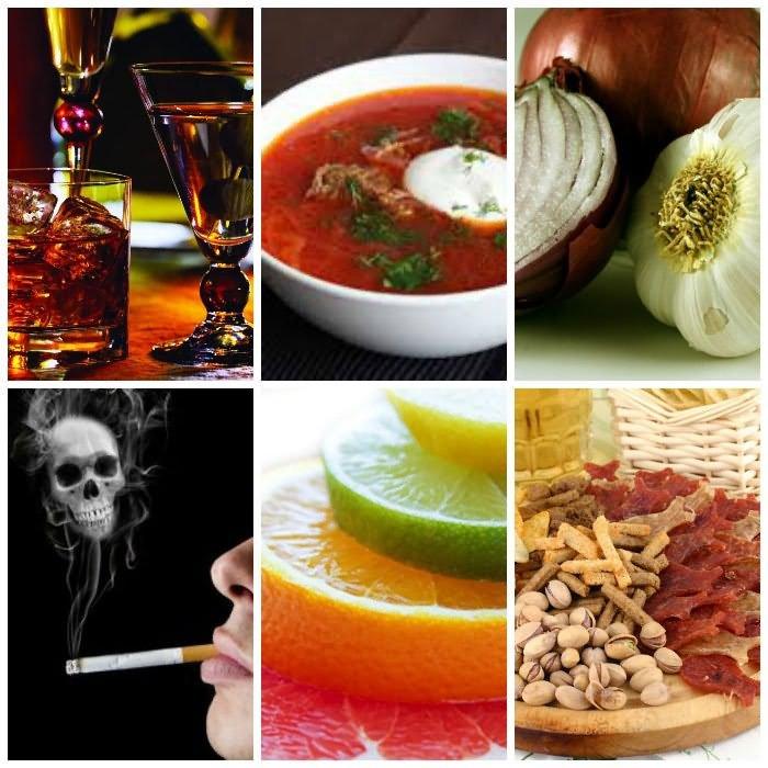 Вредные продукты и привычки
