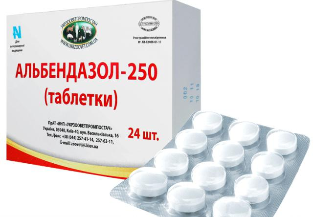 Альбендазол - средство от глистов