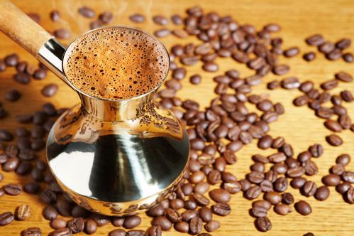Заварка зернового кофе