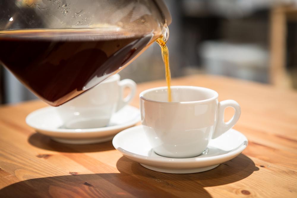 Свежесваренный ароматный кофе