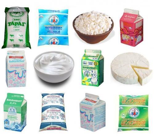 Кисломолочные продукты с бифидобактериями