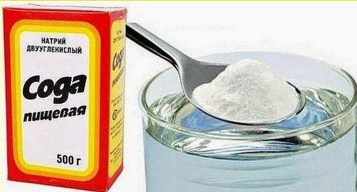 Необходимо обязательно разводить соду в воде